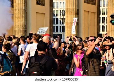 Berlin, Germany 27.05.2018 counter-manifestation in Berlin