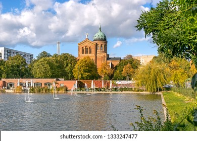 BERLIN, GERMANY - 3 Oct 2018: View of Saint Michael Church on a sunny autumn day