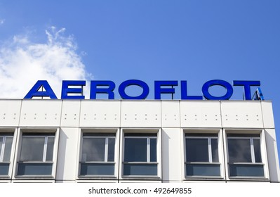 BERLIN, GERMANY -4 September  2016- The Aeroflot building on Unter den Linden street in central Berlin. Aeroflot is the Russian national airline.