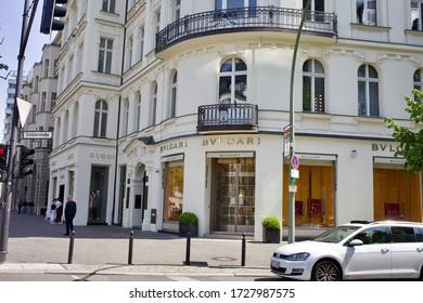 Berlin, Germany 5/5/2020 Bvlgari store in Kurfürstendamm