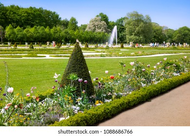 BERLIN, GERMANY - 7 May 2018: Gardens of Chralottenburg palace in Berlin