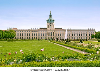 BERLIN, GERMANY - 7 May 2018: Gardens of Chralottenburg palace in Berlin