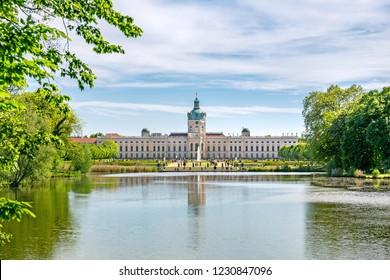 BERLIN, GERMANY - 7 May 2018: Charlottenburg palace in Berlin, Germany
