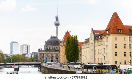 BERLIN, GERMANY - APR 30, 2015: Building in Berlin, Germany. Berlin is the capital of Germany and the most populous urban area in the European Union