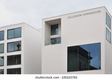 Berlin, Germany - April 12, 2017: The modern building of Collegium Hungaricum in Berlin.