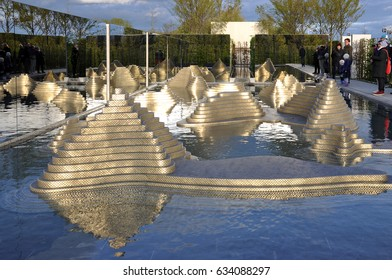 "Berlin, Germany - April 13, 2017: Thailand ""Garden of the Mind"" at the international exhibition in the Gardens of the World in Berlin."