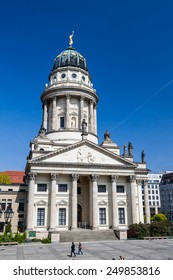 BERLIN, GERMANY - APRIL 13: The Gendarmenmarkt is a square in Berlin on April 13, 2009. Located at this square is the Konzerthaus (concert hall), the German Cathedral and French Cathedral.