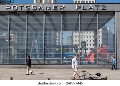 BERLIN, GERMANY - APRIL 14: Major buildings at Potsdamer Platz, Berlin on April 14, 2009. Potsdam Square is an important public square and traffic intersection in the centre of Berlin.
