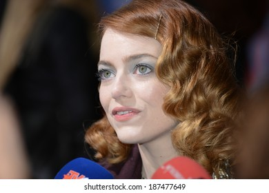 "BERLIN - GERMANY - APRIL 15: Emma Stone at ""The Amazing Spider-Man 2"" premiere at CineStar, Sony Center, Potsdamer Platz on April 15, 2014 in Berlin, Germany."