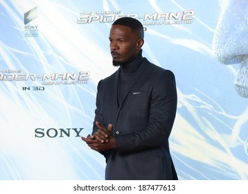 "BERLIN - GERMANY - APRIL 15: Jamie Foxx at ""The Amazing Spider-Man 2"" premiere at CineStar, Sony Center, Potsdamer Platz on April 15, 2014 in Berlin, Germany."