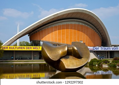 Berlin, Germany - April 18th 2011: A view of the modern architecture of the Haus der Kulturen der Welt, also known as the House of the Worlds Cultures, located in the historic city of Berlin, Germany.