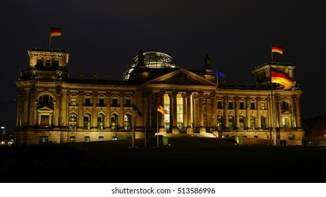BERLIN, GERMANY - APRIL 20, 2016: Tourists visiting the Reichstag (German Parliament, opened in 1894 and Renovated in 1961 - 1964) - Headquarter of the German Government.