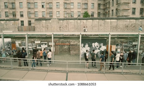 BERLIN, GERMANY - APRIL 30, 2018. Museum exhibition near the Berlin Wall