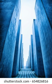 BERLIN, GERMANY - APRIL 6: Labyrinth from Holocaust memorial on April 6, 2017 in Berlin