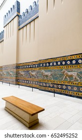 BERLIN, GERMANY - APRIL 7: Lyons on procession street from Babylon town in Pergamon musem on April 7, 2017 in Berlin