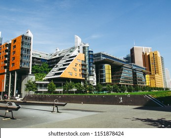 BERLIN, GERMANY - AUGUST 08, 2009: Potsdamer Platz redevelopment area has been the largest building site in Europe under the masterplan of Italian architect Renzo Piano