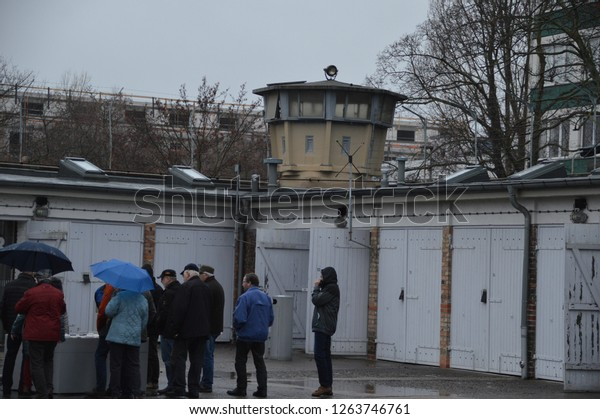 BERLIN, GERMANY - AUGUST 11: The former prison of the East German, communist-era secret police, or Stasi, at Hohenschoenhausen on August 11, 2017 in Berlin, Germany.