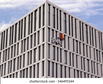 BERLIN, GERMANY - AUGUST 13, 2016:PricewaterhouseCoopers (doing business as PwC) is a multinational professional services network headquartered in London, United Kingdom.