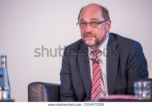Berlin, Germany - August 15th 2017: Martin Schulz during an election event. He was a candidate for chancellor of Germany.