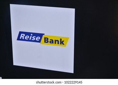Berlin, Germany - August 17, 2017: ReiseBank logo. ReiseBank AG provides financial products and services focusing on travel and currency transaction services