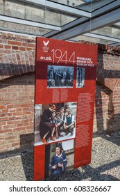 Berlin, Germany, August 21, 2014: Warsaw Rising 1944 Exhibition