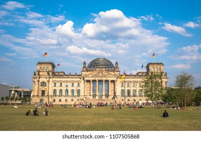 Berlin, Germany - August, 23, 2015: The Reichstag building, the seat of German parliament, Berlin
