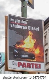 BERLIN, GERMANY - AUGUST 23, 2017: Election poster of satirical Die Partei party before 2017 Federal election.