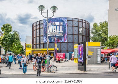 Berlin, Germany - August 24, 2018: Exterior view of Blackbox Cold War museum located right where American and Soviet tanks squared off in 1961. The museum is dedicated to the Cold War