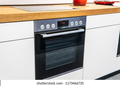 Berlin, Germany, August 29, 2018, electric, Bosch induction hobs and Built-in ovens at Robert Bosch exhibition pavilion showroom, stand at Global Innovations Show IFA 2018,
