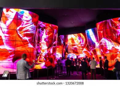 Berlin, Germany, August 31, 2018, LG Ultra HD HDR10 Smart OLED Premium TV on display, at LG exhibition pavilion showroom, stand at Global Innovations Show IFA 2018,