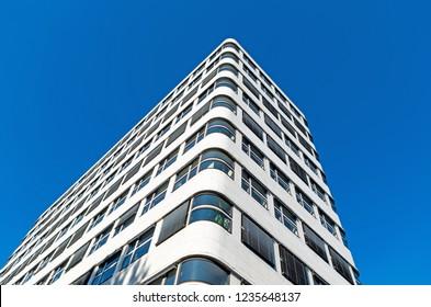 BERLIN, GERMANY - August 6, 2018: Modern Shell-Haus office building.