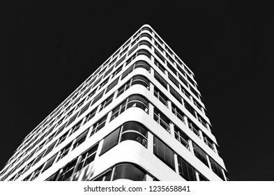 BERLIN, GERMANY - August 6, 2018: Modern Shell-Haus building.