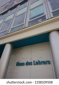 Berlin / Germany: Ber. 6, 2019: Haus des Lehrers near Alexanderplatz inBerlin, Germany