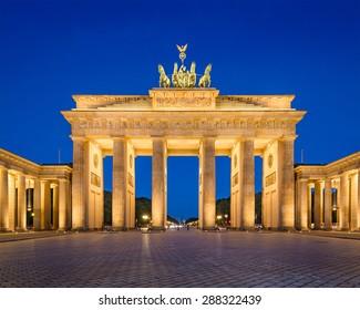 Berlin, Germany at Brandenburg Gate.