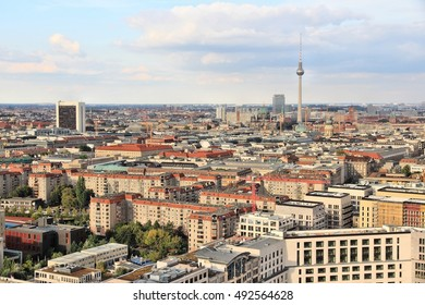 Berlin, Germany. Capital city architecture aerial view with TV Tower.