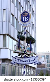 BERLIN, GERMANY, CIRCA 2013 - The logotype of Hofbrauhouse beer restaurant net circa 2013 in Berlin, Germany