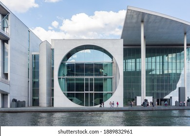 BERLIN, GERMANY - CIRCA JULY, 2018: View from the Spree River of the Bundeskanzleramt (Federal Chancellery) of Germany in Berlin.