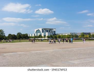 BERLIN, GERMANY - CIRCA JULY, 2018:  The Bundeskanzleramt (Federal Chancellery) of Germany in Berlin.