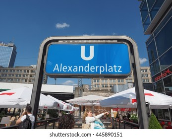 BERLIN, GERMANY - CIRCA JUNE 2016: Alexanderplatz underground station