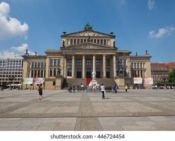 BERLIN, GERMANY - CIRCA JUNE 2016: Konzerthaus Berlin concert hall on the Gendarmenmarkt square in central Mitte district