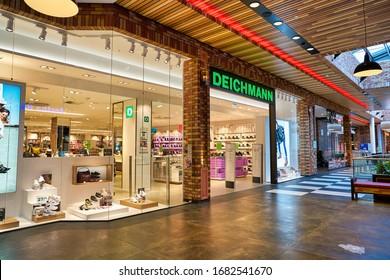 BERLIN, GERMANY - CIRCA SEPTEMBER, 2019: Deichmann storefront at Schultheiss Quartier in Berlin