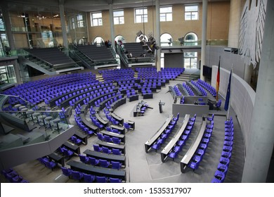 BERLIN, GERMANY - December 10,2018: the Bundestag ( Reichstag ) lower house of parliament in Berlin