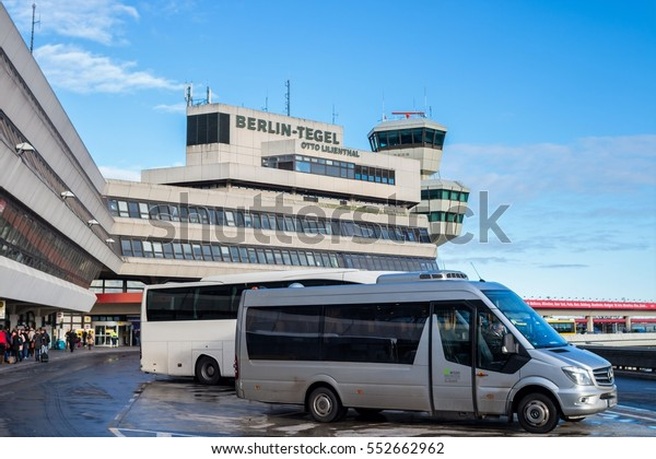 BERLIN, GERMANY - DECEMBER 22, 2016: A view of the Tegel airport, the main international airport of Berlin, the federal capital of Germany.
