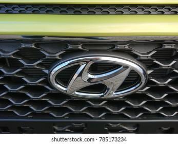 Berlin, Germany - December 26, 2017: Hyundai car. The Hyundai Motor Company is a South Korean multinational automotive manufacturer