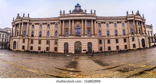 BERLIN, GERMANY - DECEMBER 26: Humboldt University of Berlin on December 26, 2012 in Berlin, Germany. Founded in 1810. Famous physicists Albert Einstein and Max Planck studied here.