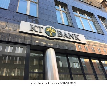 Berlin, Germany - December 3, 2016: Kt Bank branch. The Kt Bank AG Is the first Islamic bank in Germany to offer financial products and services based on Islamic principles