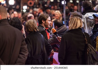 BERLIN, GERMANY - FEBRUARY 05: Actor Daniel Bruehl attends the 'Nobody Wants the Night' (Nadie quiere la noche) Opening Night premiere during the 65th Berlinale at Berlinale Palace on February 5, 2015