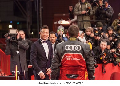 BERLIN, GERMANY - FEBRUARY 05: DTM racing driver Andre Lotterer attends the 'Nobody Wants the Night' (Nadie quiere la noche) Opening Night premiere during the 65th Berlinale on February 5, 2015