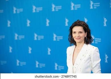 BERLIN, GERMANY - FEBRUARY 05: Juliette Binoche attends the 'Nobody Wants the Night', photo call during 65th Berlinale International Film Festival at Grand Hyatt Hotel on February 5, 2015 in Berlin, Germany.