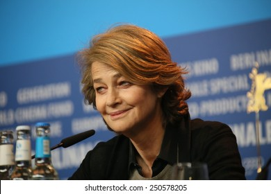 BERLIN, GERMANY - FEBRUARY 06: Charlotte Rampling attends the '45 Years'  press conference during the 65th Berlinale Film Festival at Grand Hyatt Hotel on February 6, 2015 in Berlin, Germany